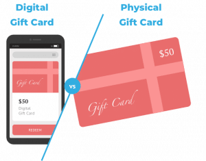 Digital Gift Cards vs. Physical Gift Cards